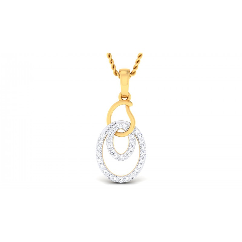 endear designer diamond pendant set charvi buy jewellery