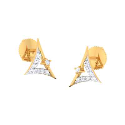 Lapis Diamond Earring