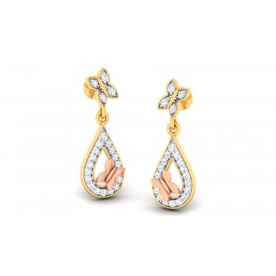 Heliotrope Diamond Earring