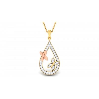 Heliotrope Diamond Pendant