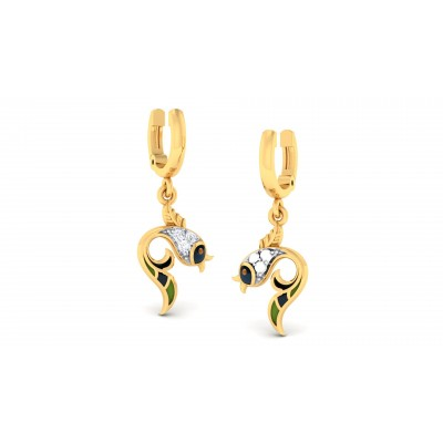 Crescent Diamond Earring