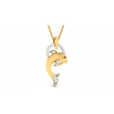 Dolphin Diamond Pendant