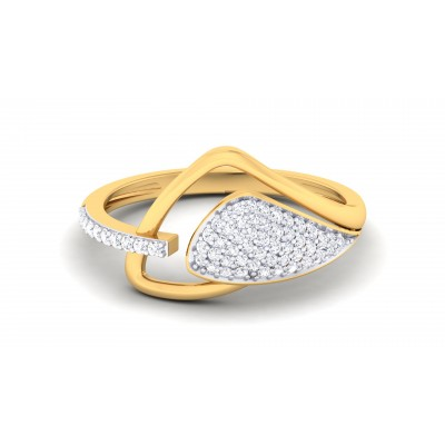 Flame Diamond Ring