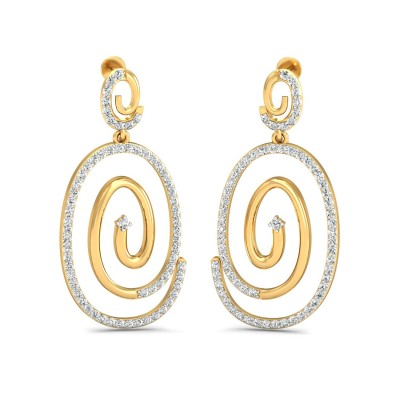 Greek Diamond Earring