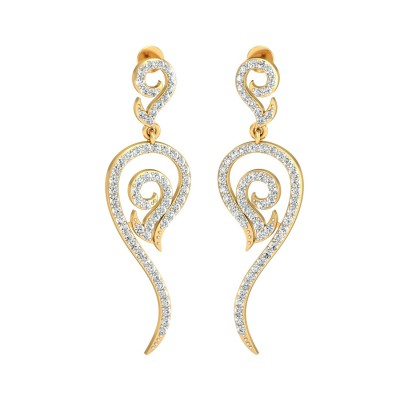 French Diamond Earring