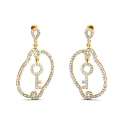 Russian  Diamond Earring