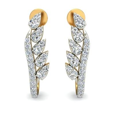 Pears Diamond Stick Bali Earring