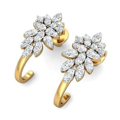 Diamond Marquise Bali Earring