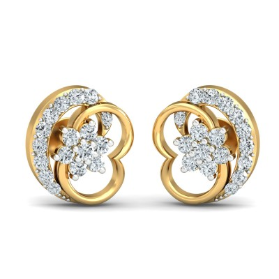 Croccifixio Diamond Earring