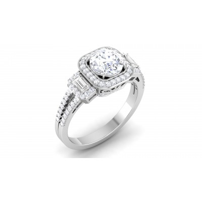 Flossy Diamond Ring