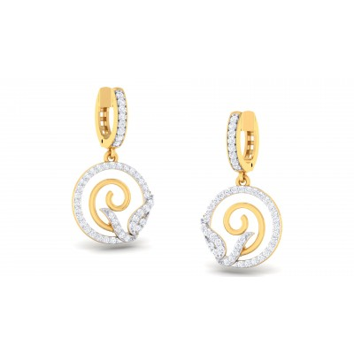 Raphia Diamond Earring