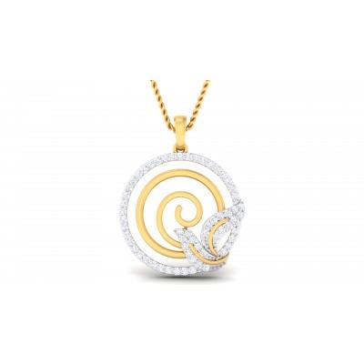Raphia Diamond Pendant