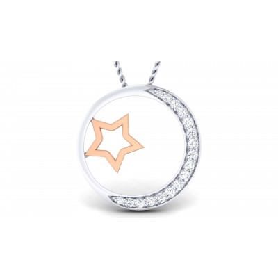 Roundstar Diamond Pendant