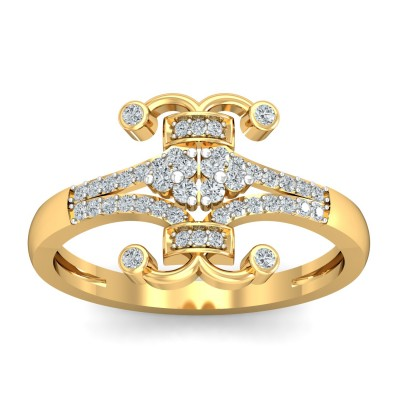 Cyan Diamond Ring